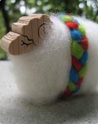 ウール木の羊