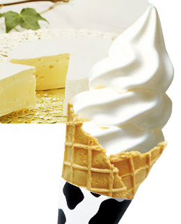 六甲山牧場のソフトクリーム